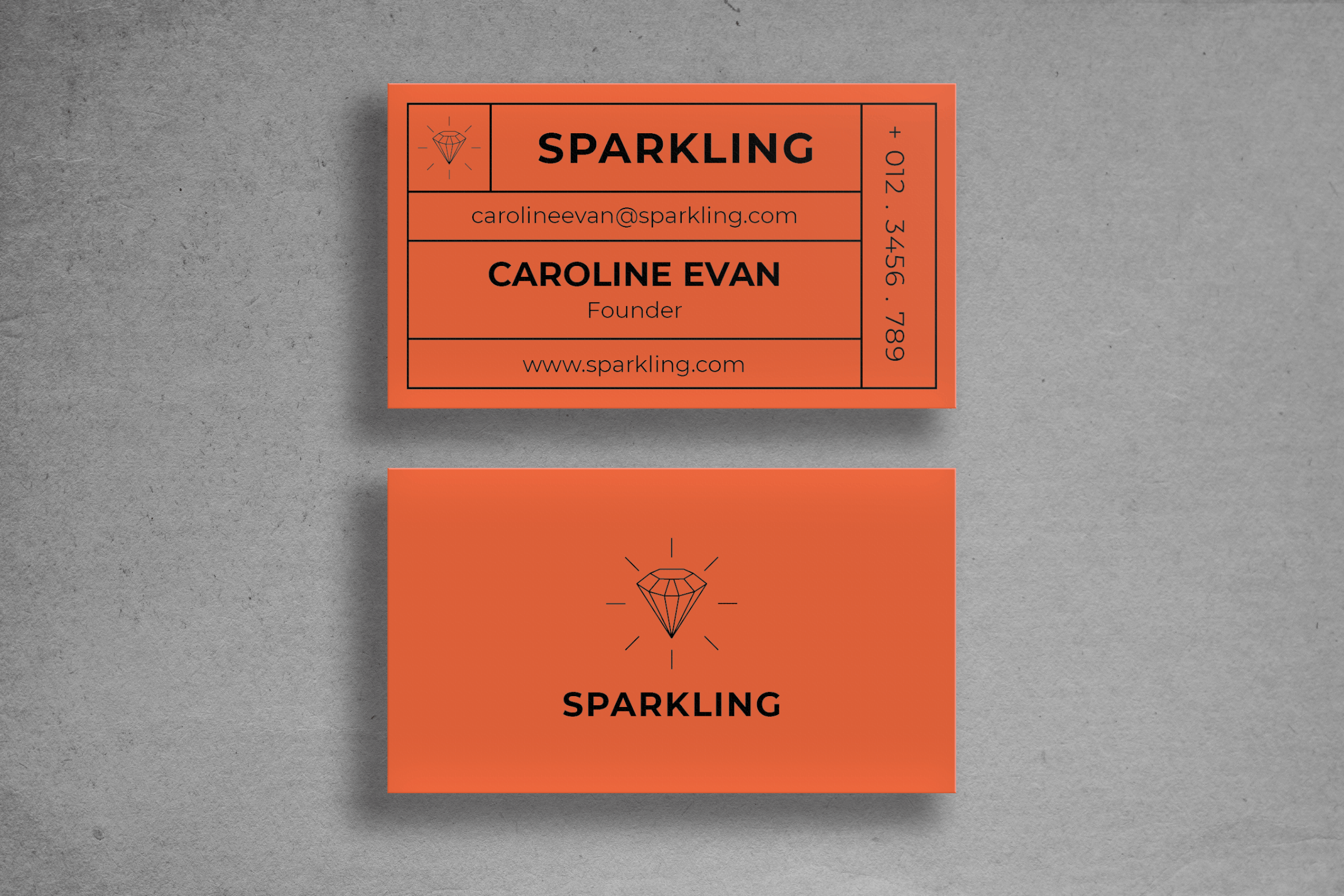 Business Card - Orange Name Tag
