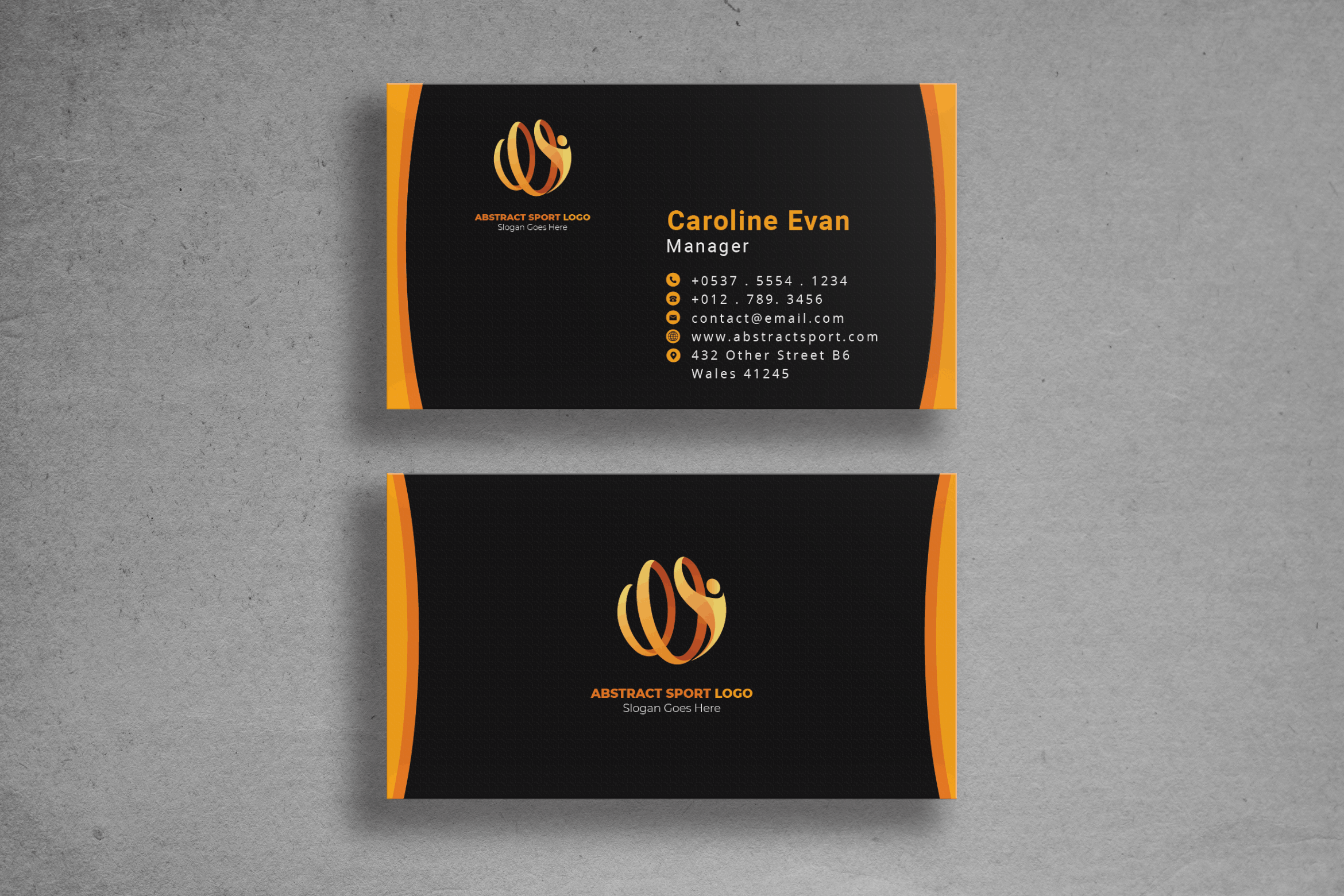 Business Card - Sport Club Identity