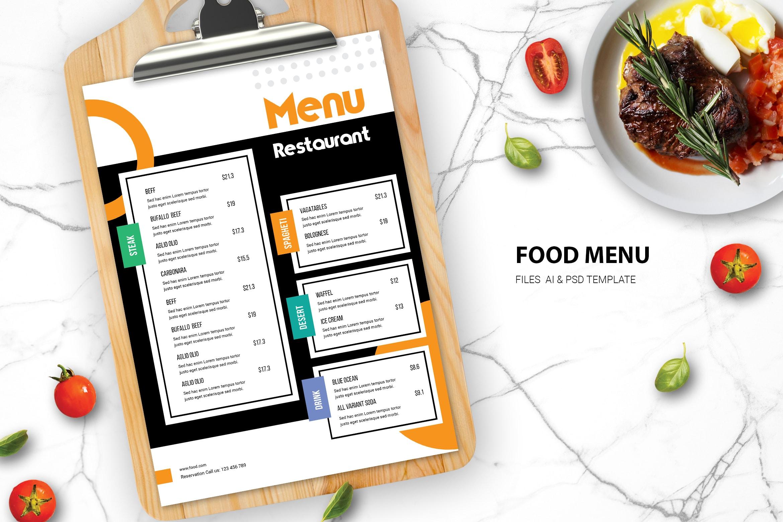 Food Menu - Main Course Taste