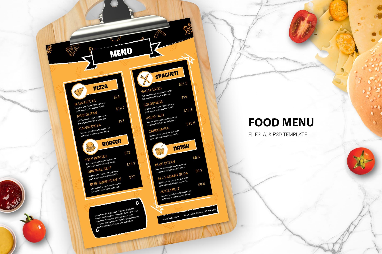 Food Menu - Italian Taste