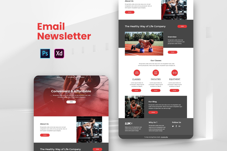 Gym Center - Email Newsletter