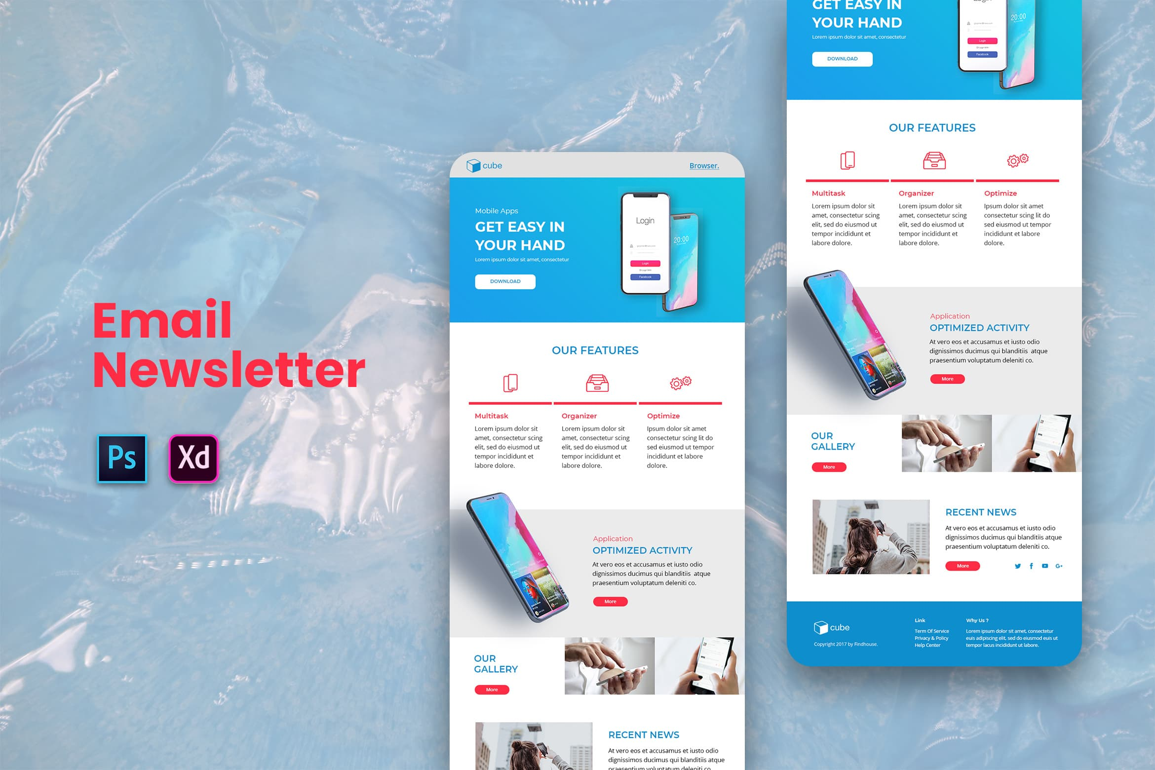 Email Newsletter - Digital Apps Service template