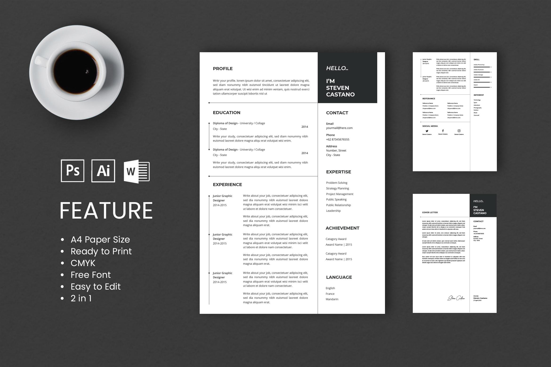CV Resume - Junior Graphic Designer Profile