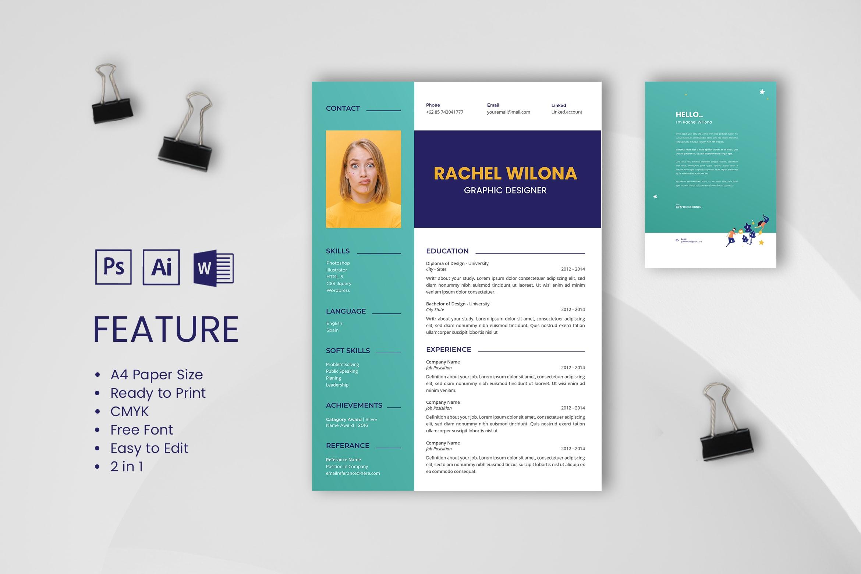 CV Resume – Graphic Designer Profile 14