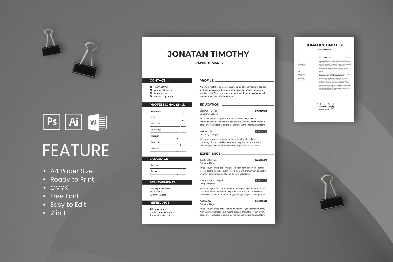 CV Resume – Graphic Designer Profile 9