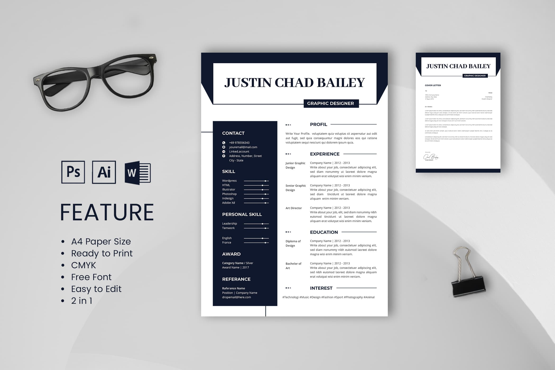 CV Resume – Graphic Designer Profile 5