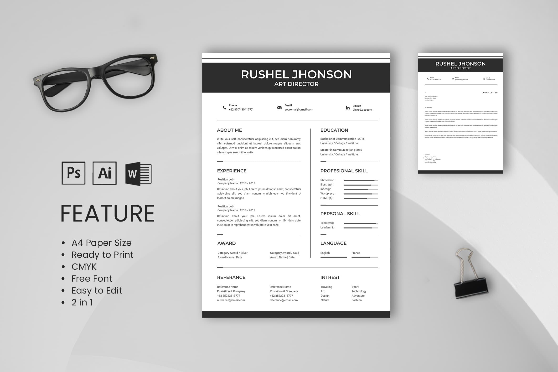 CV Resume – Art Director Profile 4