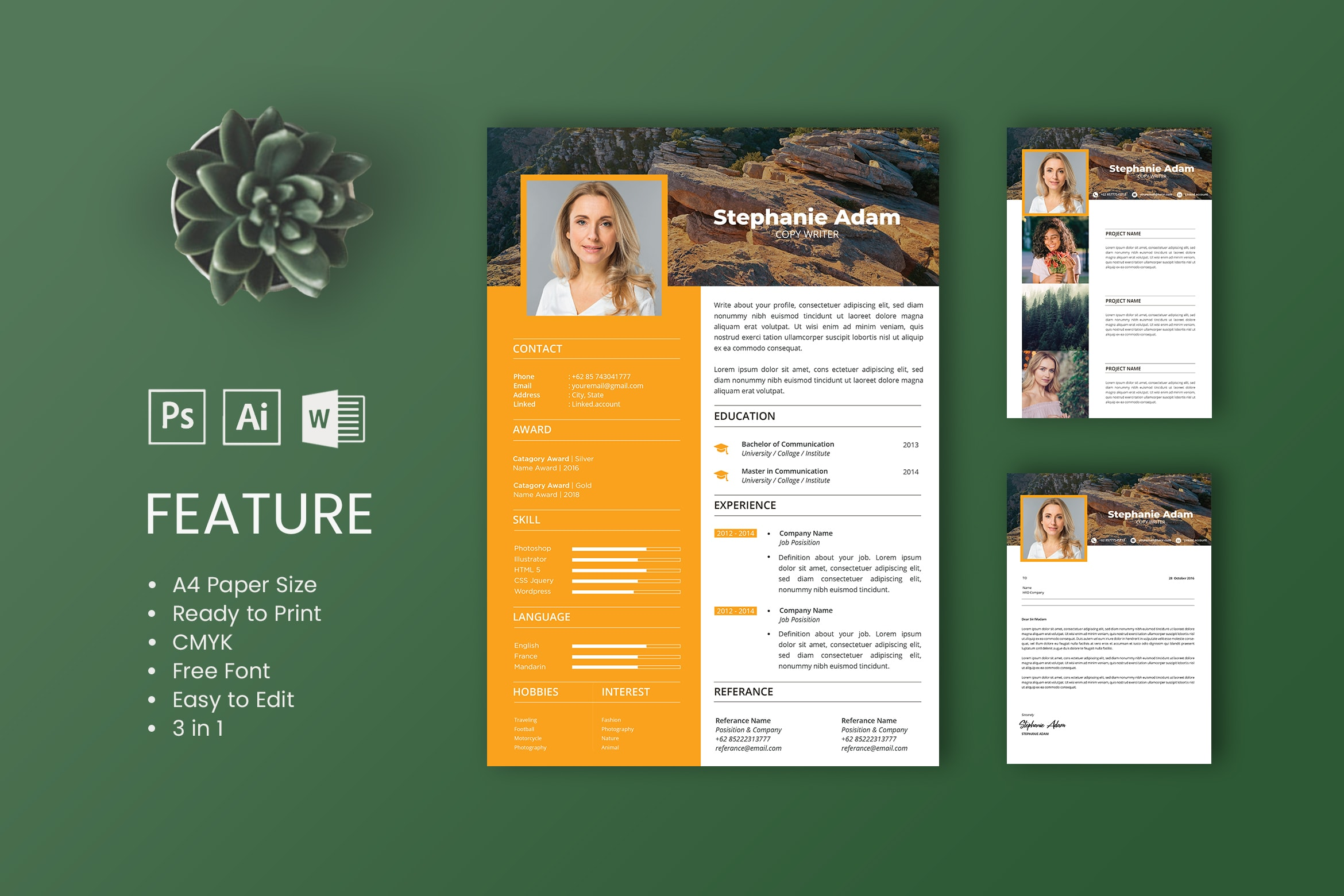 CV Resume – Copywriter Profile 4