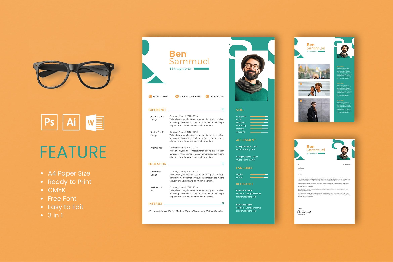CV Resume – Photographer Profile 4