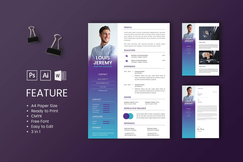 CV Resume - Creative Designer Profile 2