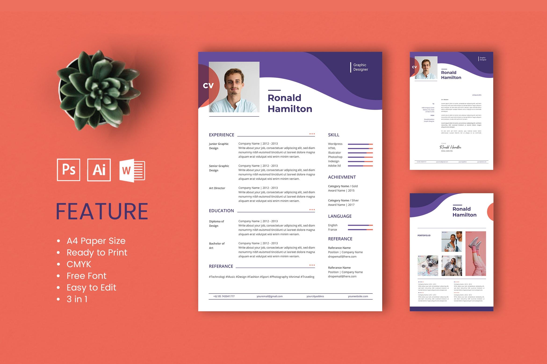 CV Resume - Graphic Designer Profile 3