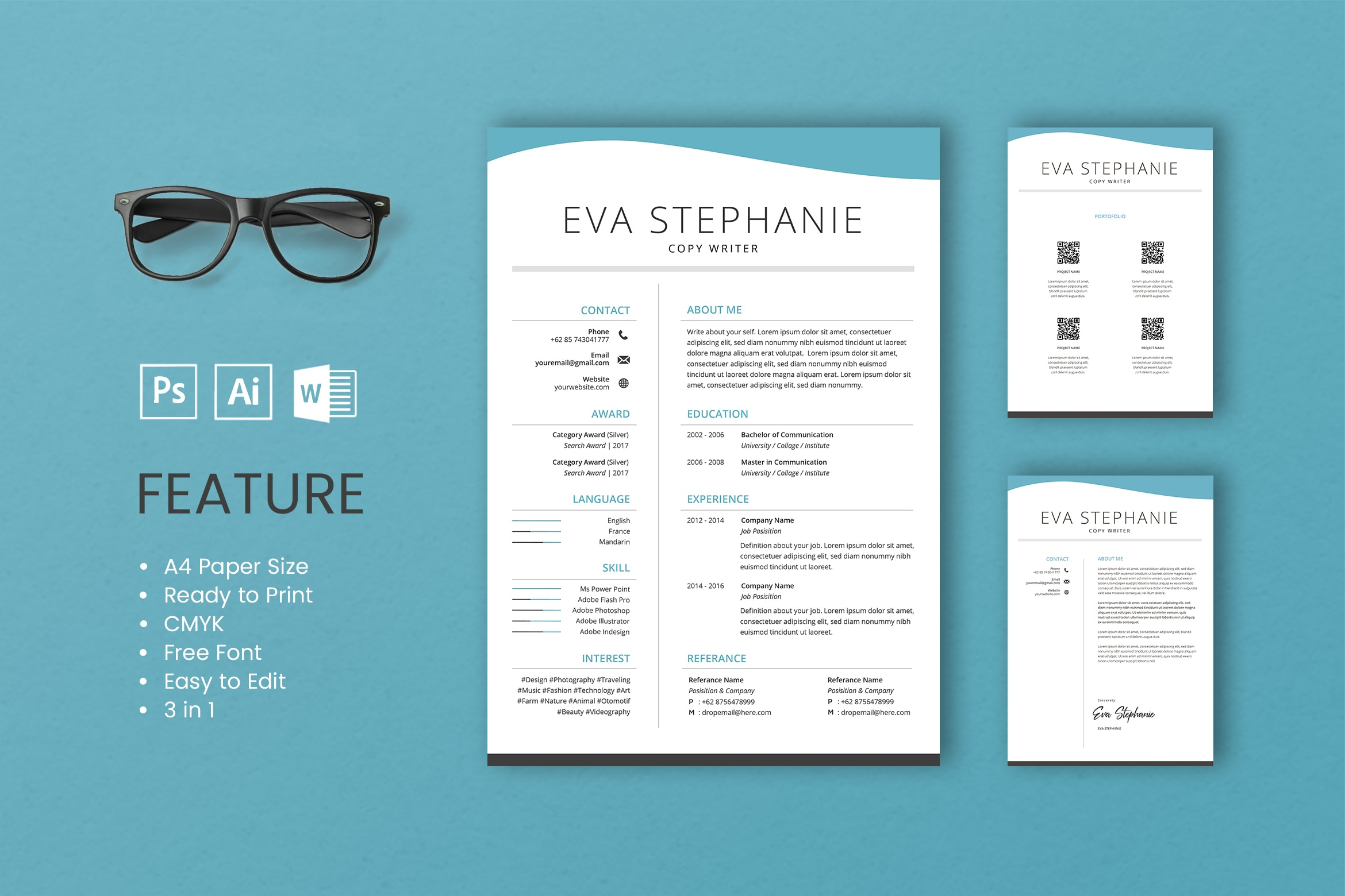 CV Resume - Copywriter Profile 2