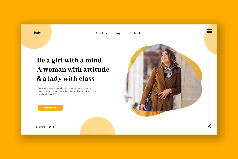 Hero Header - Women Blogger Web