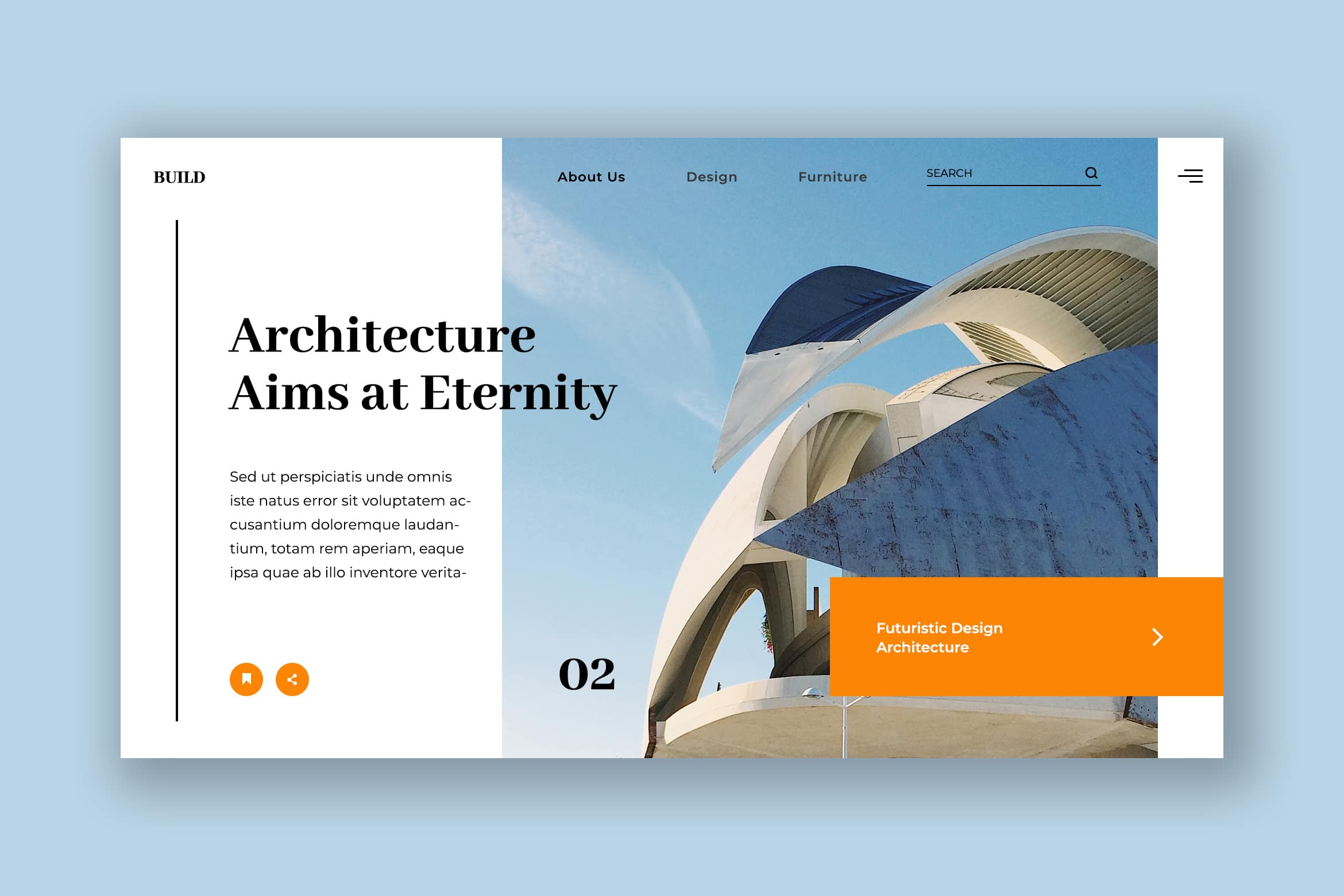 Hero Header - Futuristic Architecture
