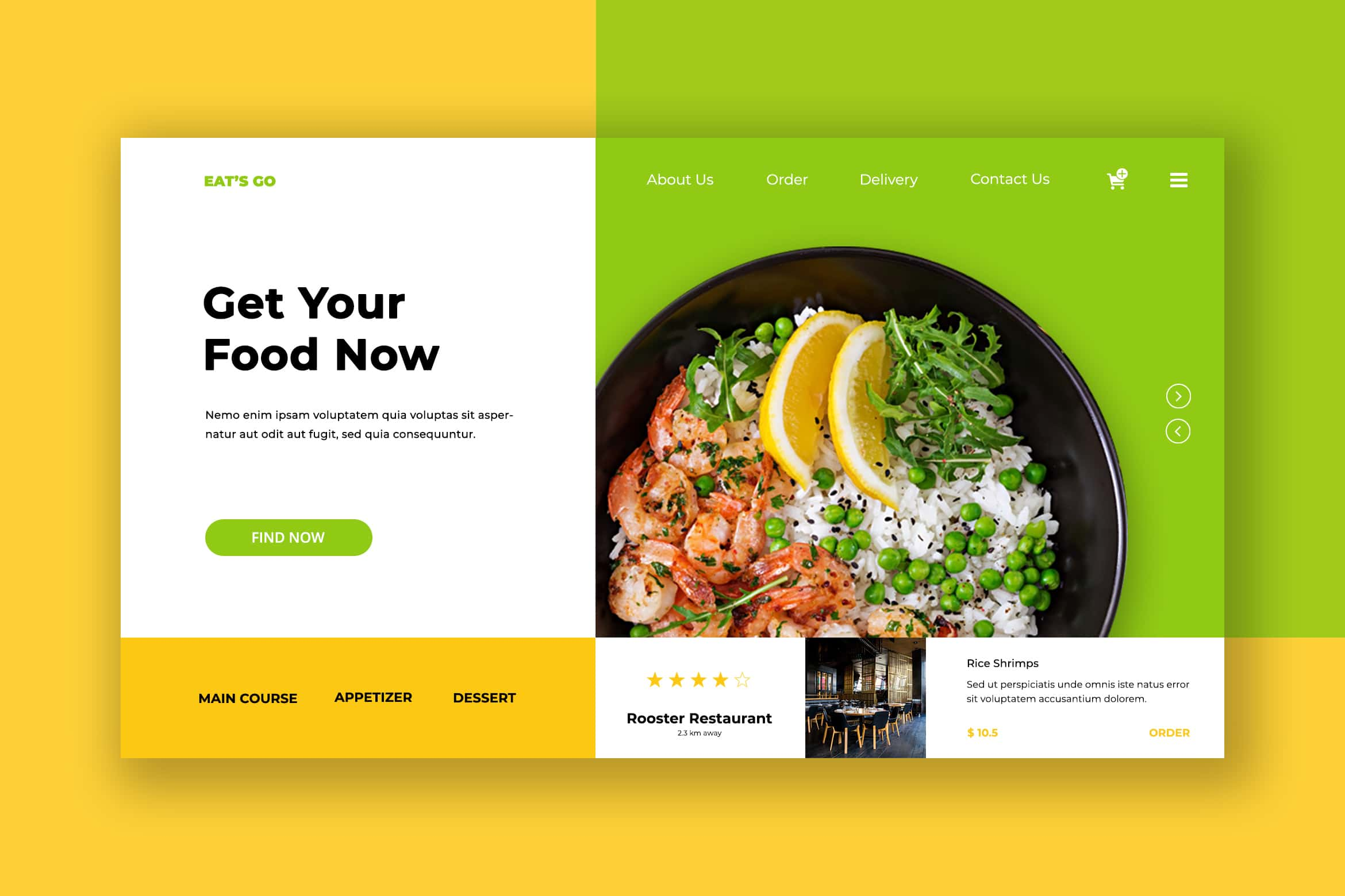 Hero Header - Food Restaurant