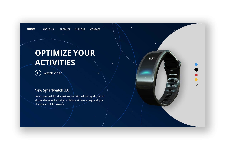 Hero Header - Smartwatch Store