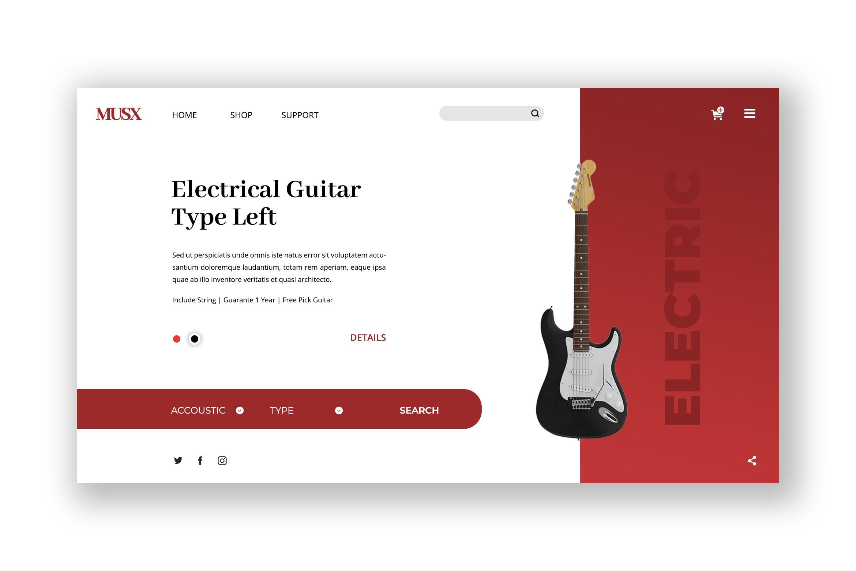 Hero Header - Electrical Guitar Store