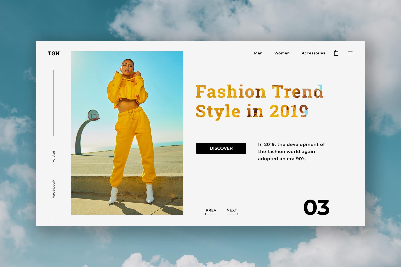 Hero Header - Fashion Trend
