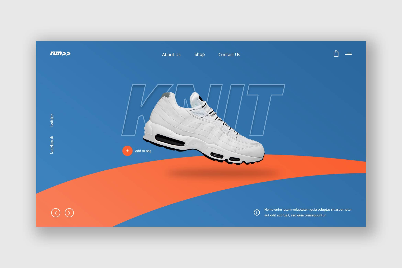 Hero Header - Running Sport Shoes
