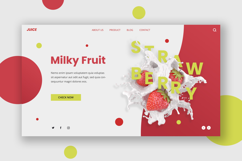 Hero Header - Milky Fruit Product