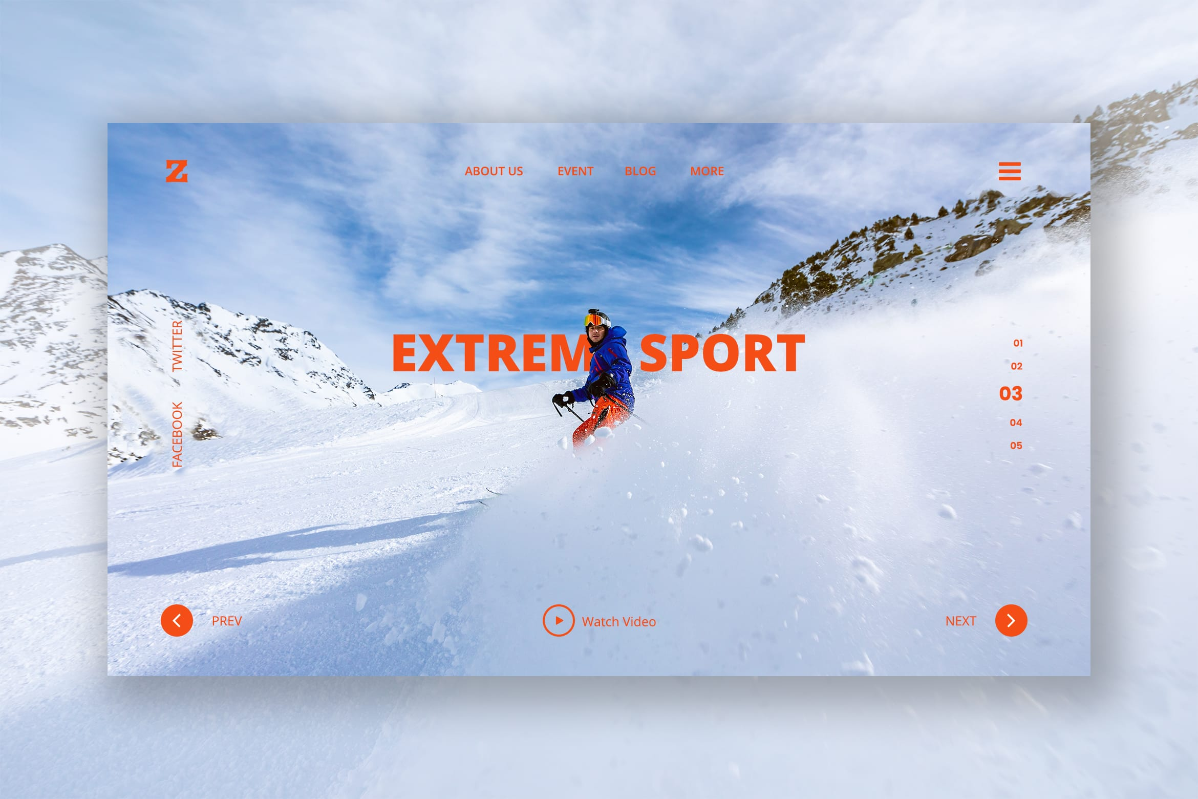 Hero Header - Extreme Sport Winter