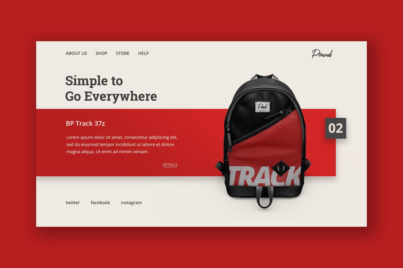 Hero Header - Backpack Track Bag
