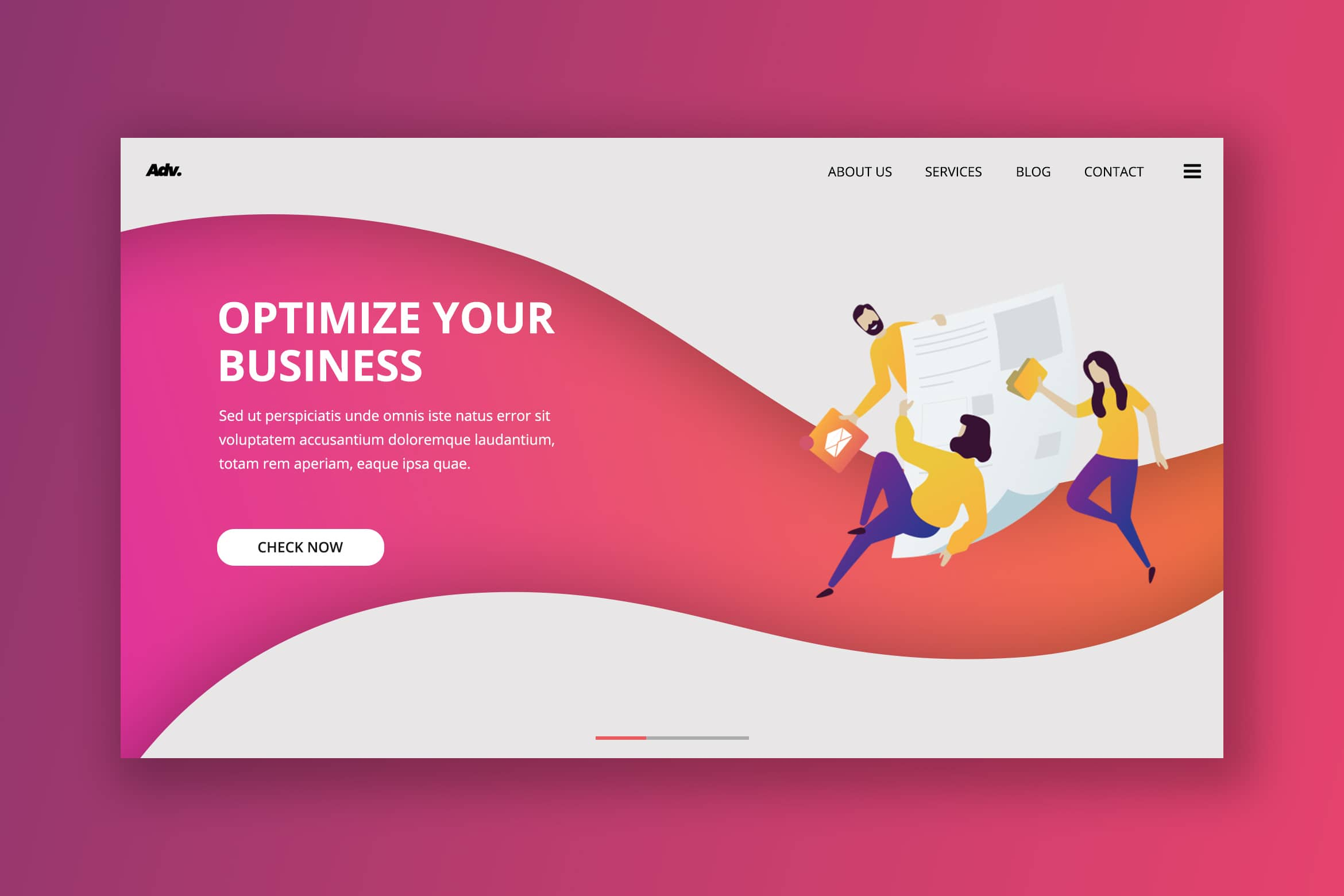 Hero Header - Business Optimize Service