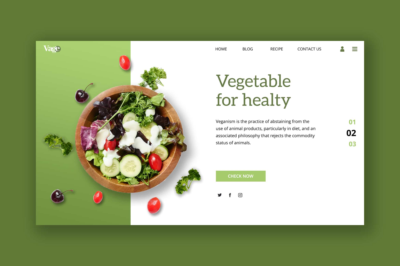 Hero Header - Healthy Vegetable Store