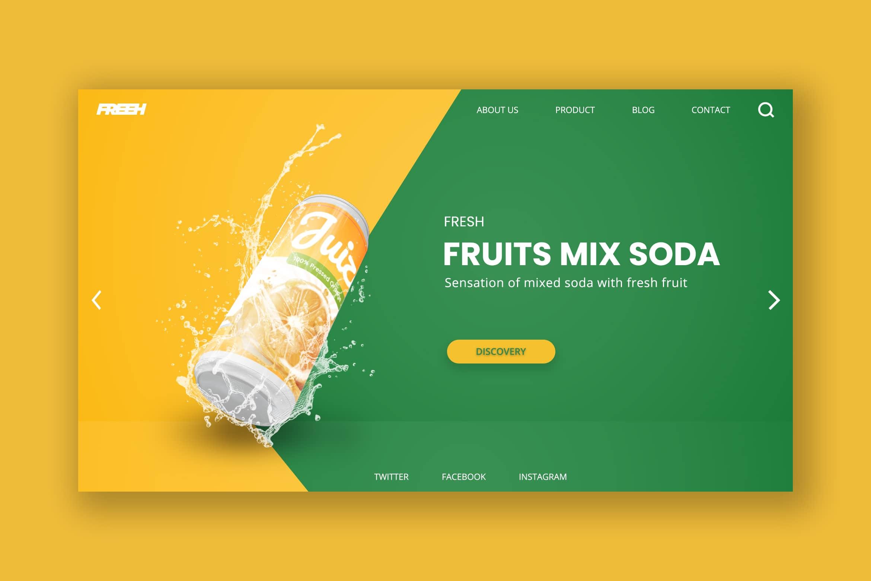 Hero Header - Fruits Soda Product