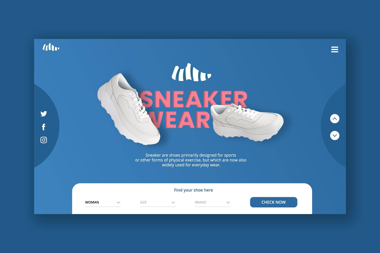 Hero Header - Sneaker Shoes Shop