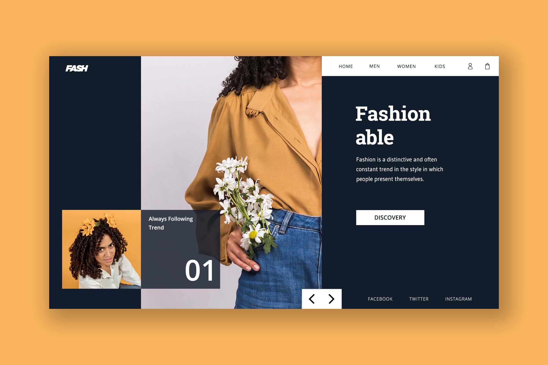 Hero Header - Fashionable Style Store