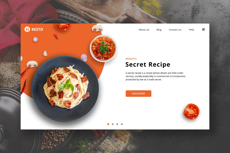 Food Resto - Secret Recipe Restaurant Hero Header