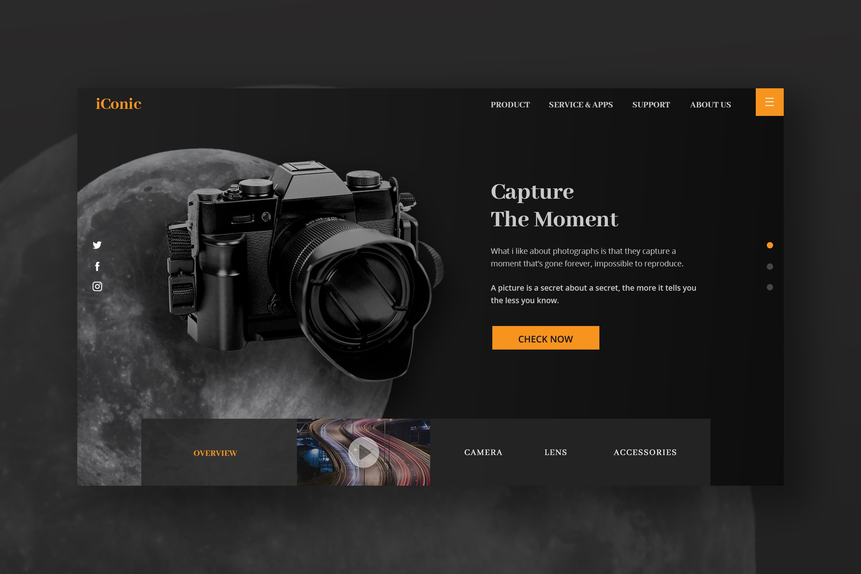 Hero Header - Photography Store & Service
