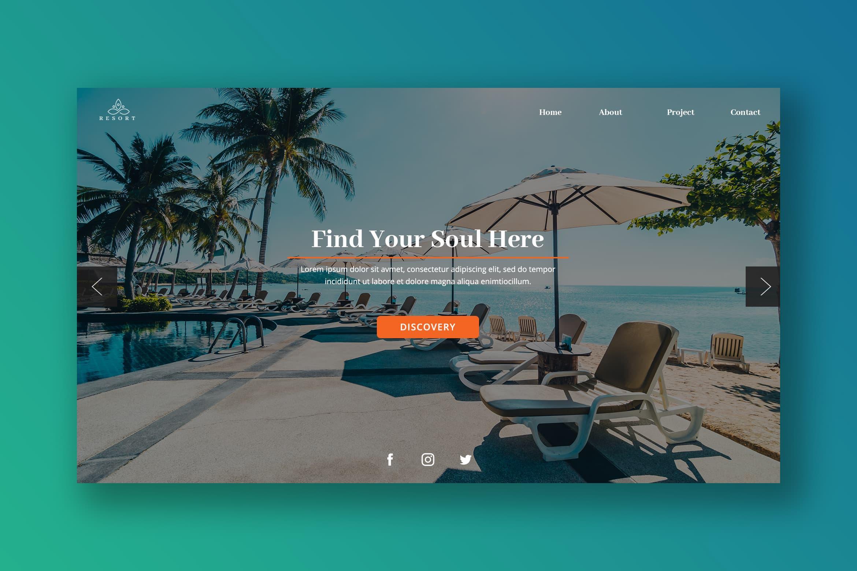 Hero Header - Tropical Resort