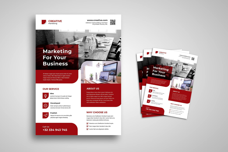 Flyer Template- Marketing Development Service