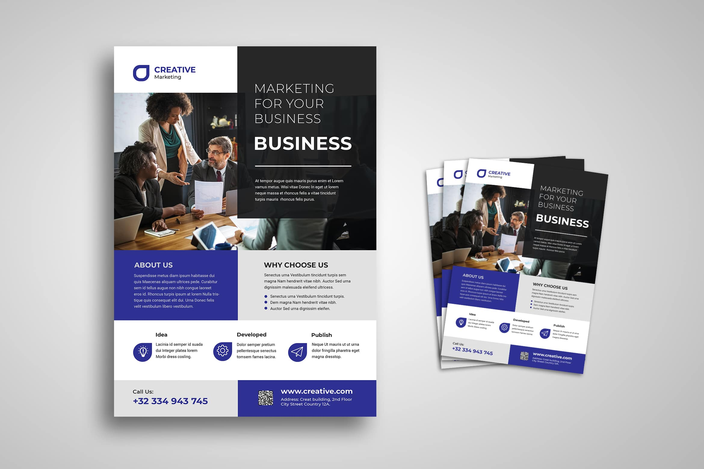Flyer Template - Marketing Development & Publication