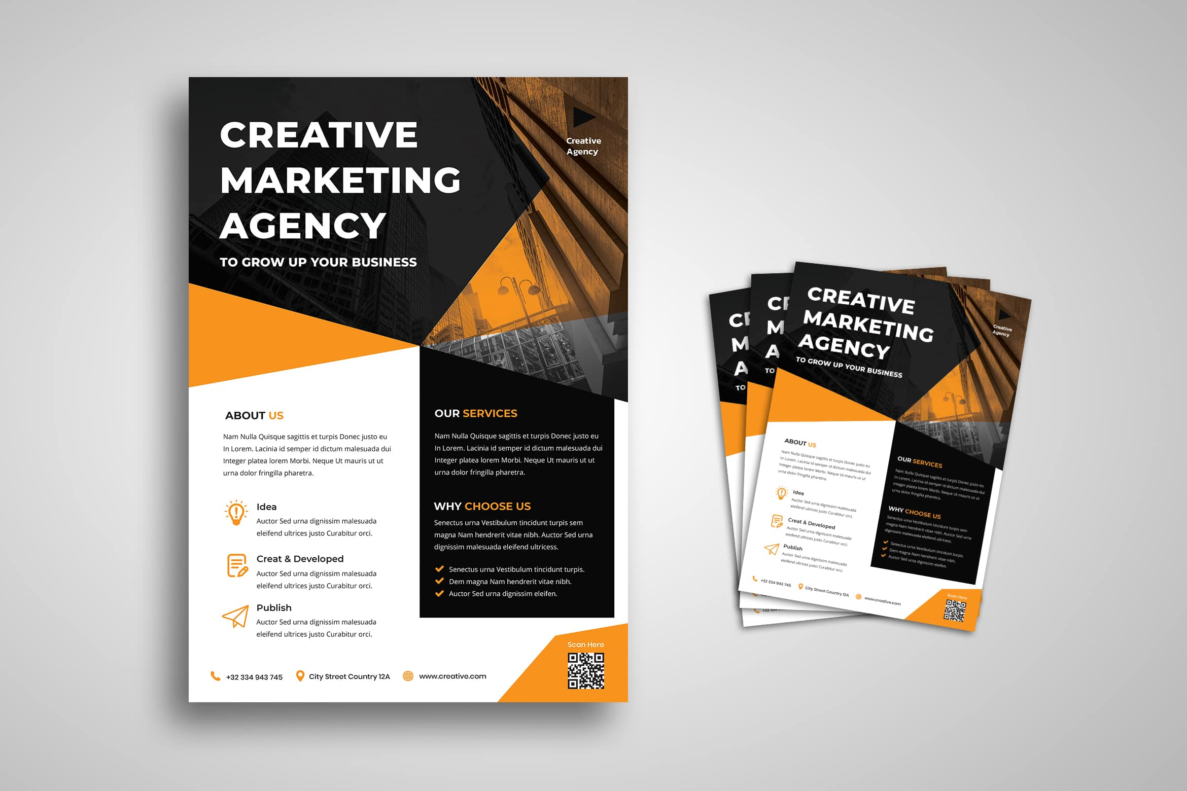 Flyer Template - Creative Marketing Agency