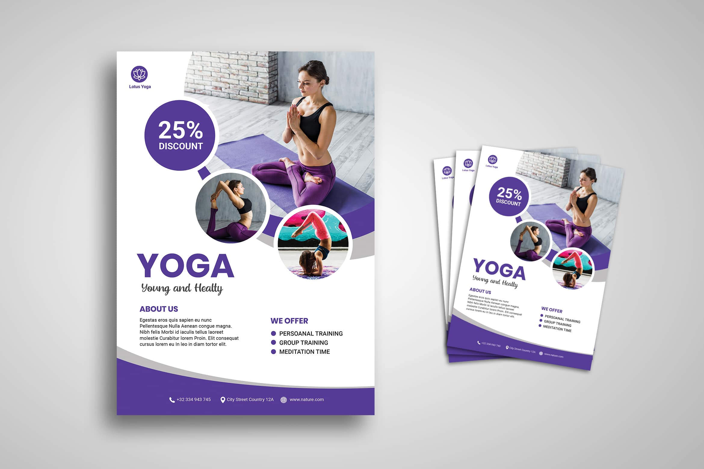 Flyer Template - Yoga Trainer Service