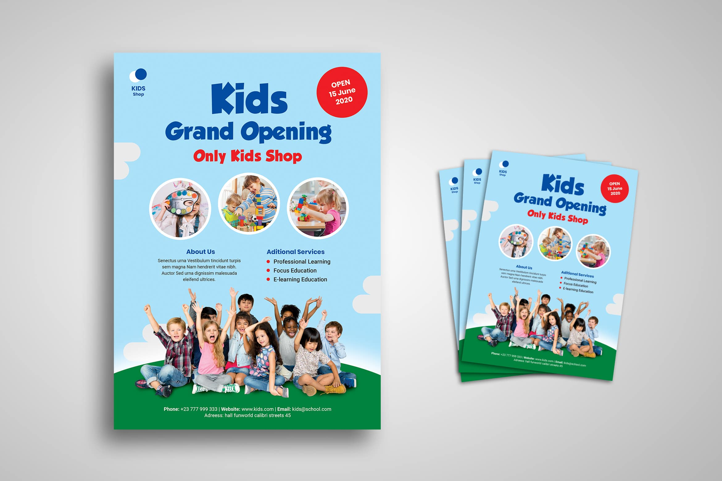 Flyer Template - Kids Educational Shop