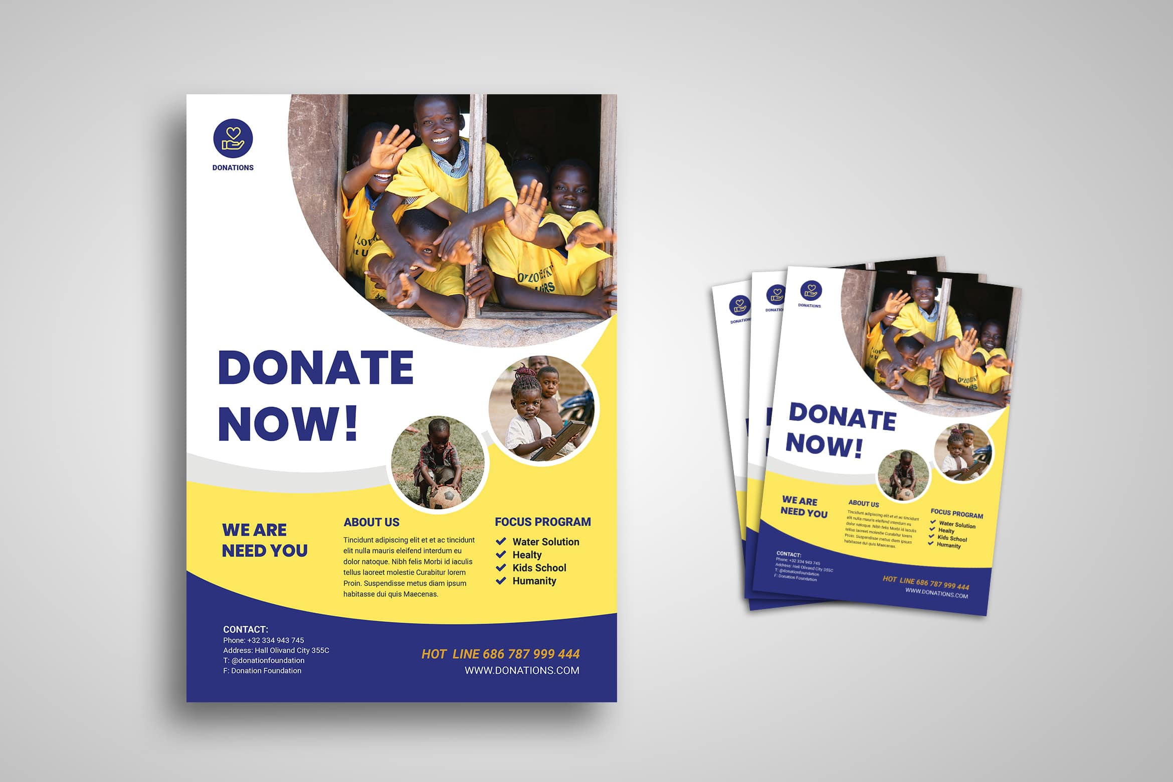 Flyer Template - Humanity Donate Campaign