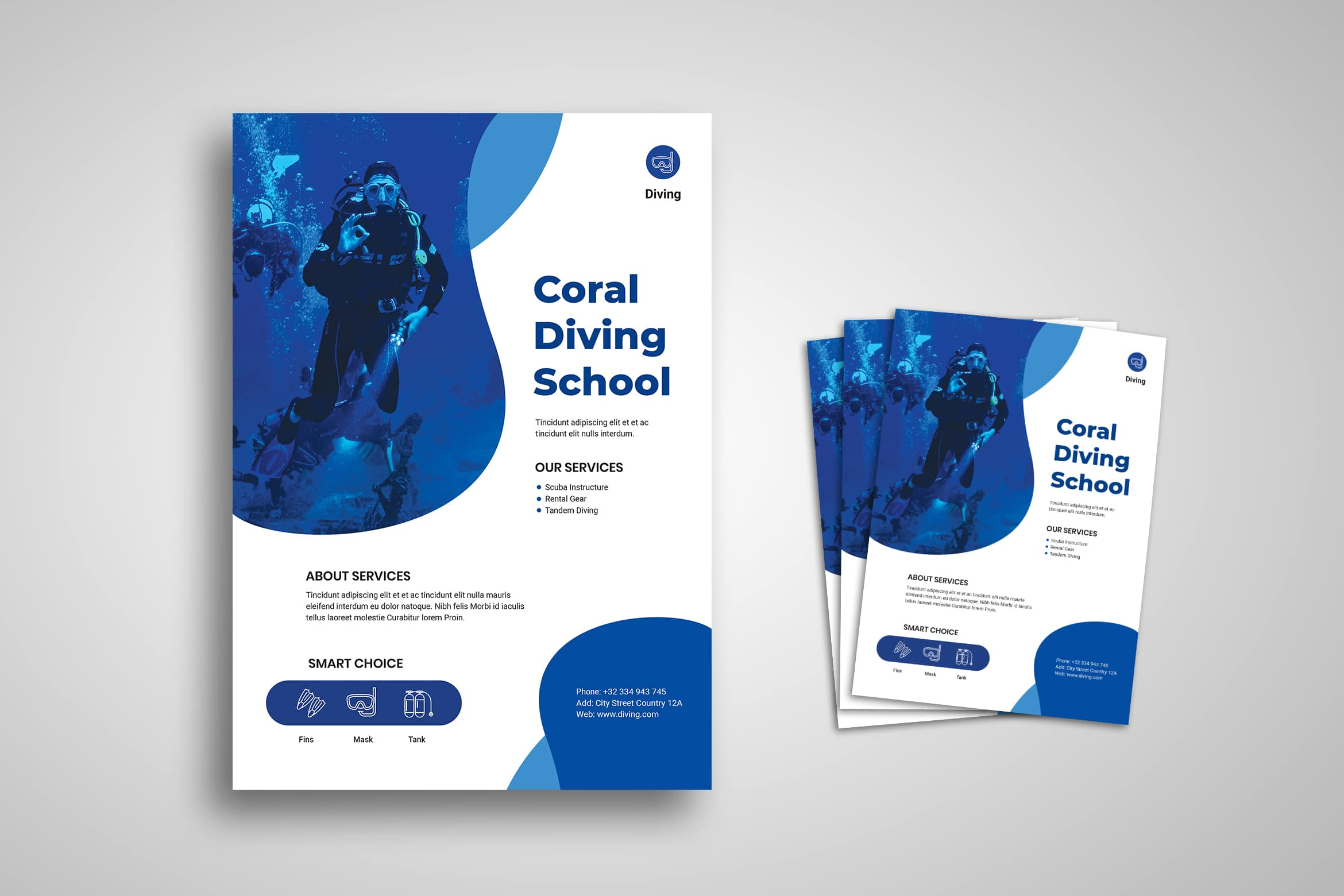 Flyer Template - Diving School Service