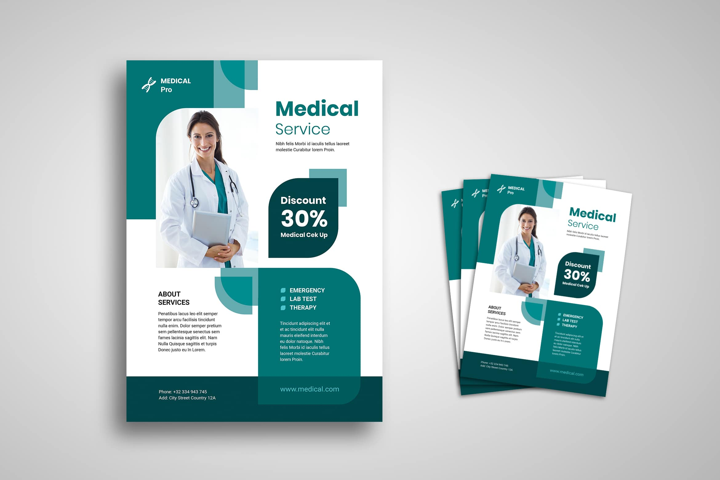 Flyer Template - Medical Check Up Service