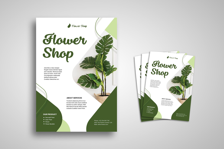 Flyer Template - Green Flower Shop