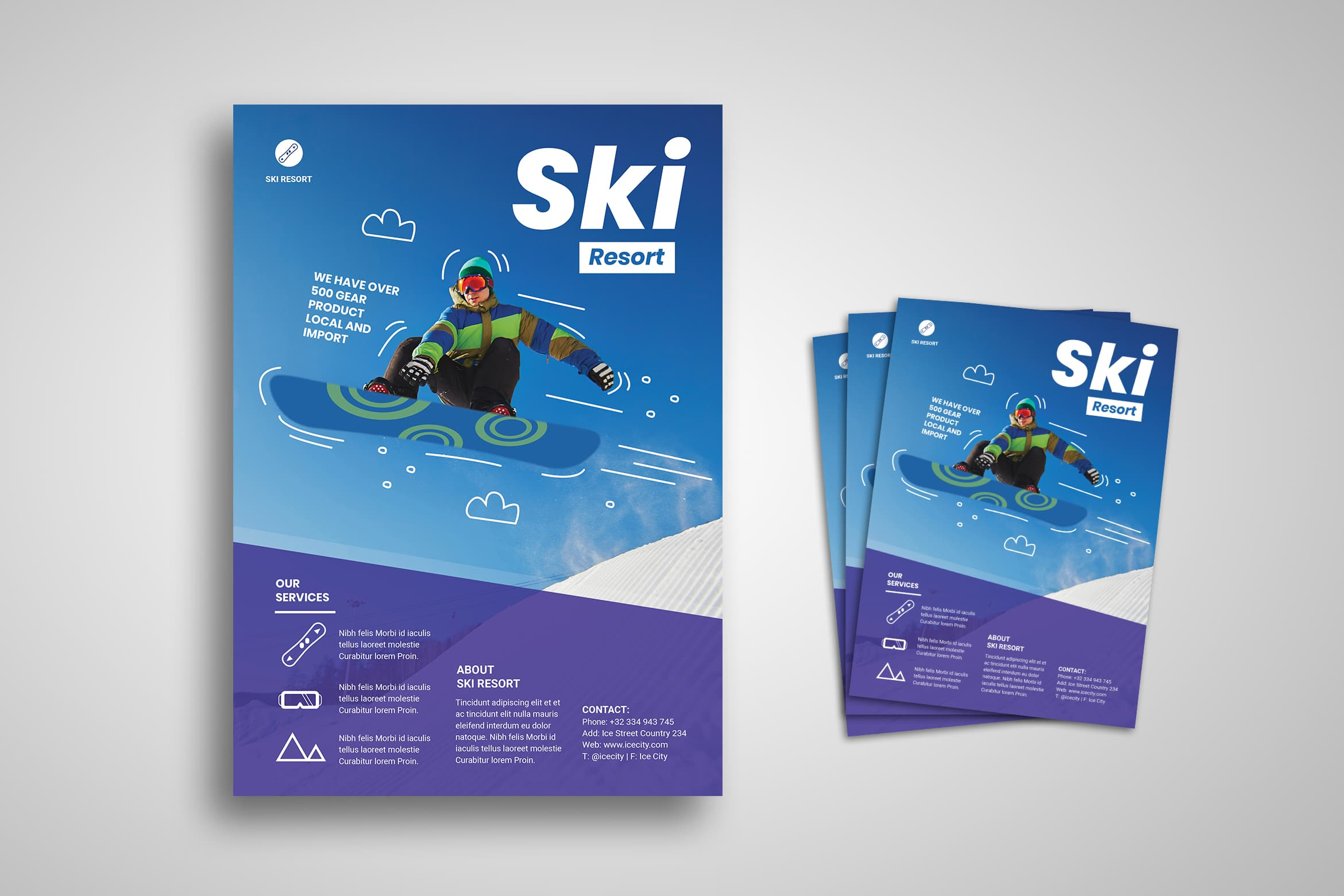 Flyer Template - Ski Resort Winter