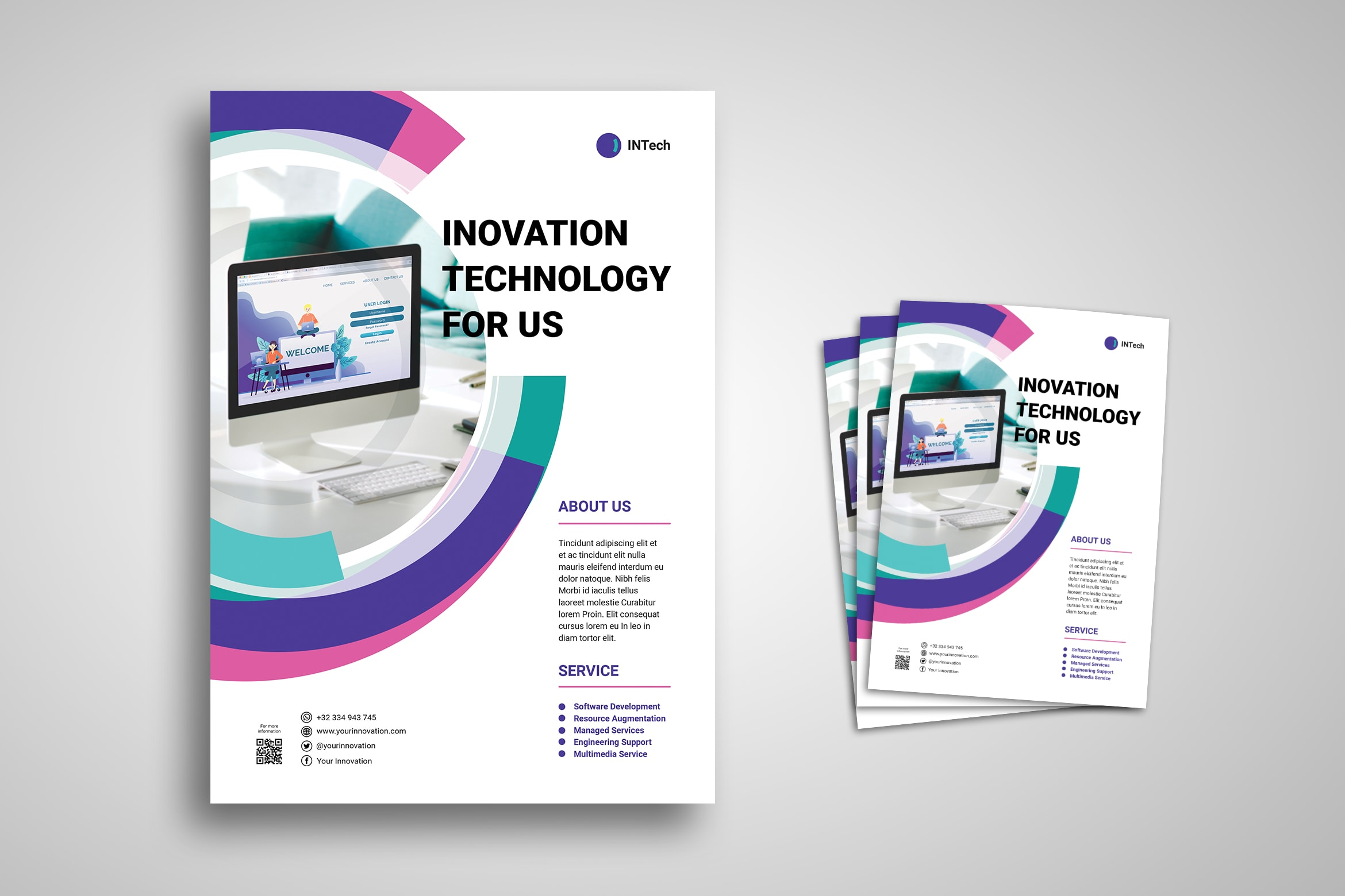 Flyer Template- Innovation Technology Service