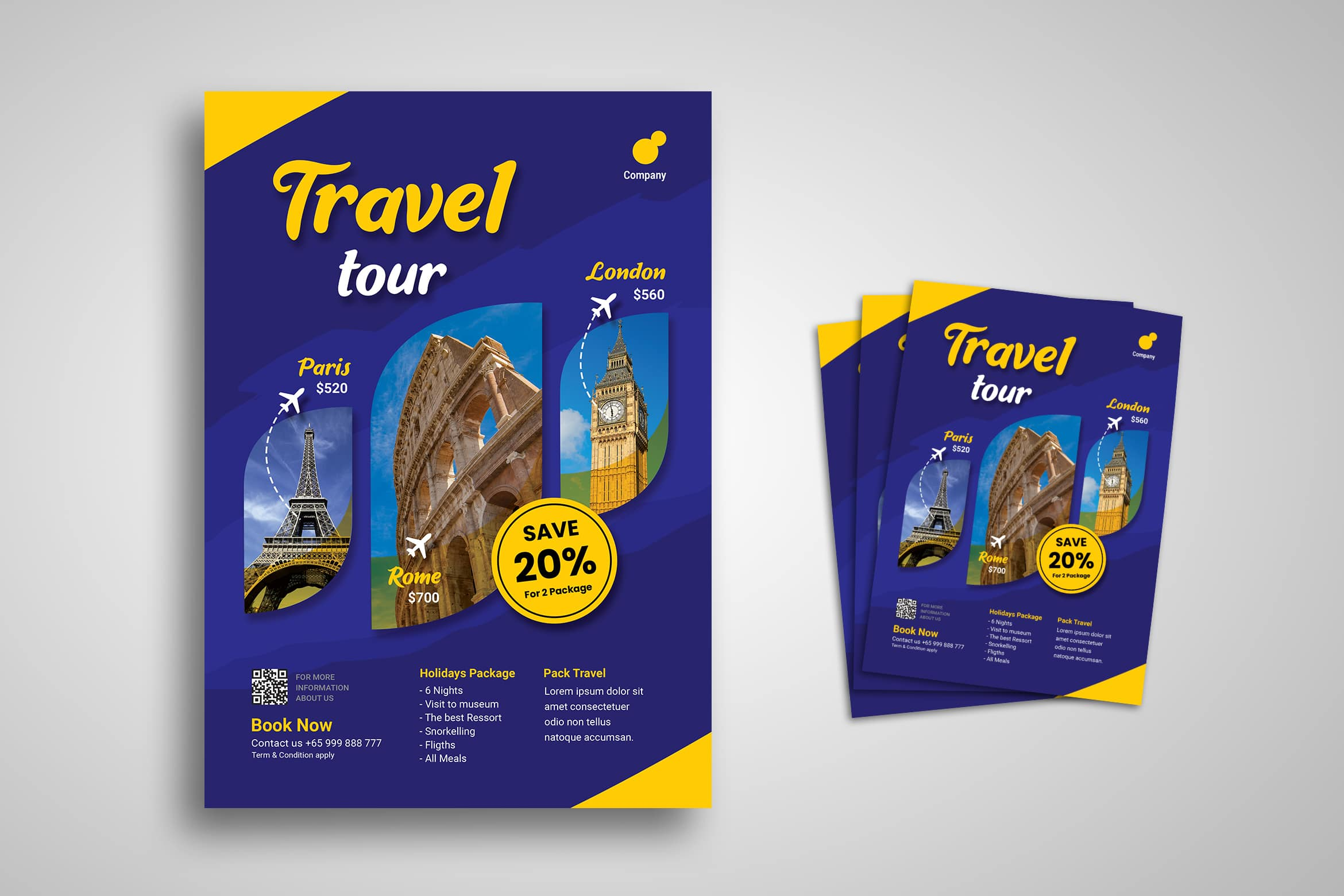 Flyer Template - International Travel Tour