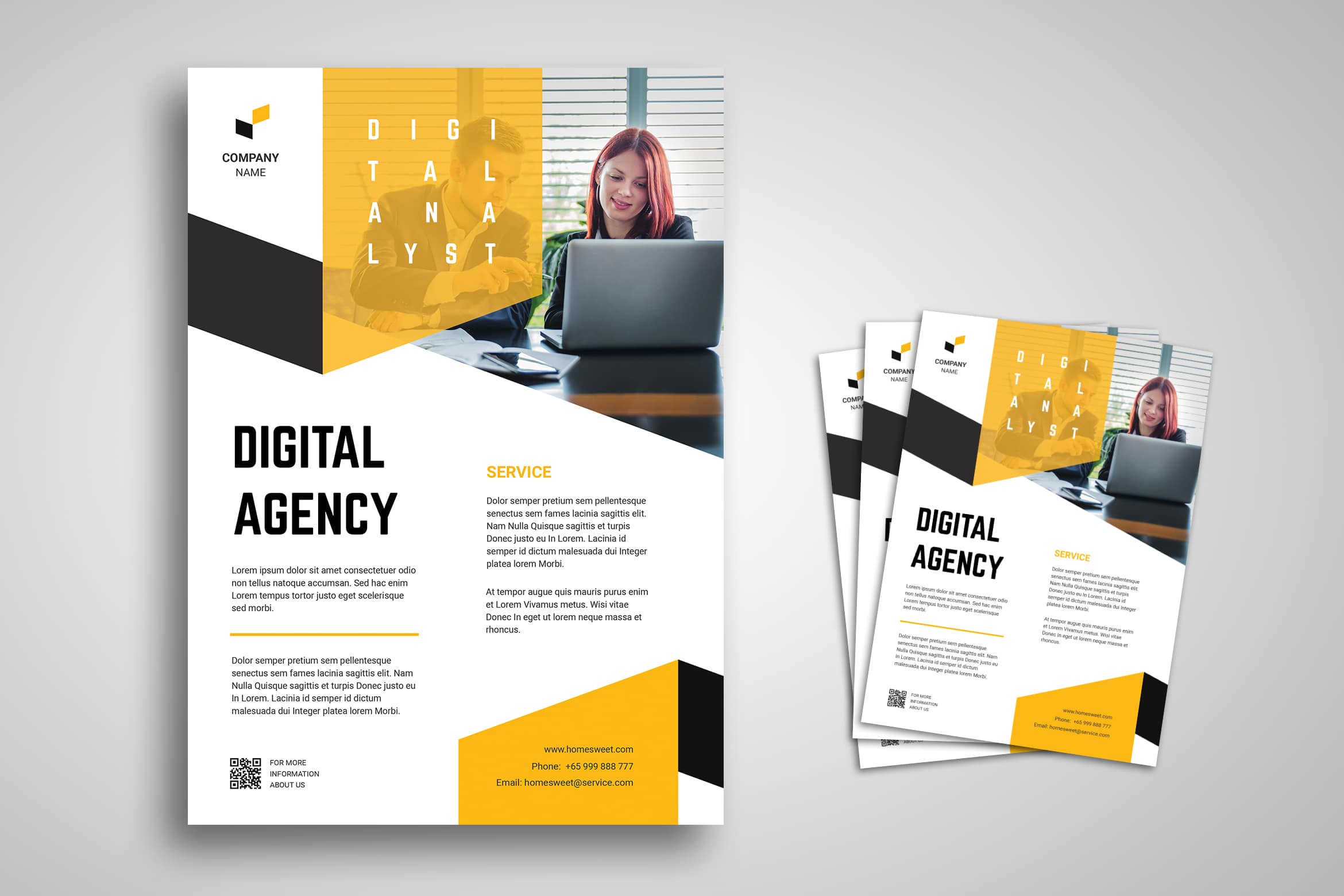 Flyer Template - Digital Analyst Company