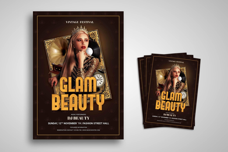 Flyer Template - Vintage Beauty Festival