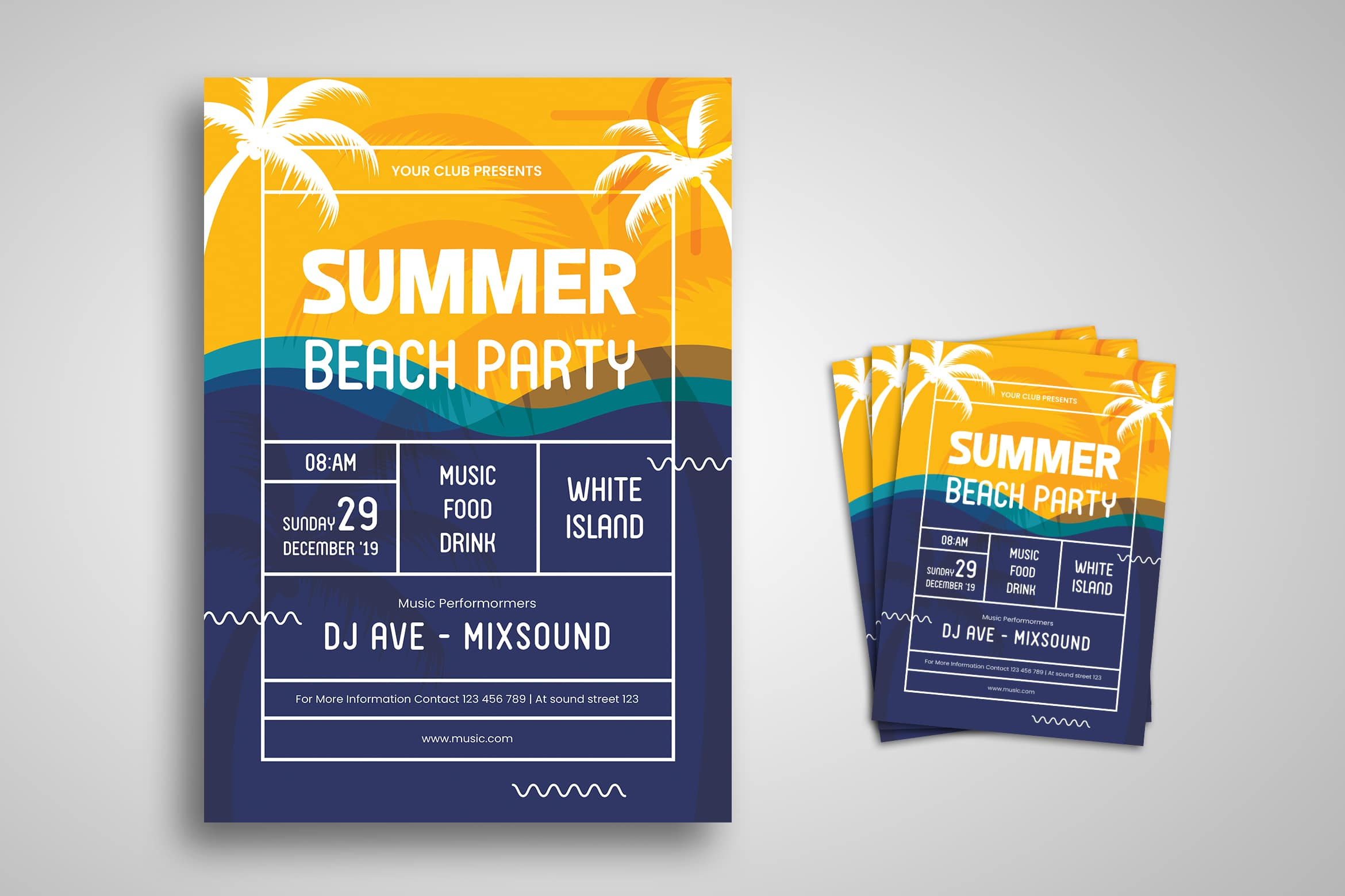 Flyer Template - Summer Beach Party
