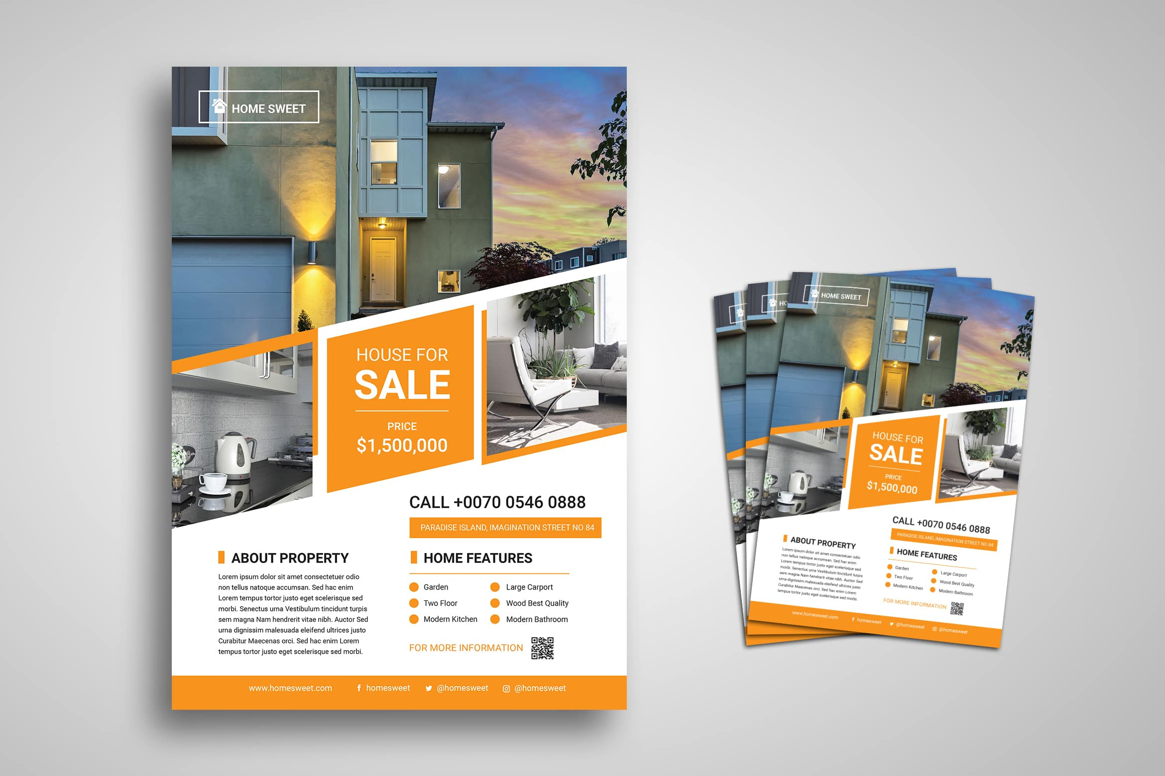 Flyer Template - House For Sale